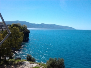 blue water of the sea on river of vlora